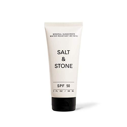 Salt & Stone SPF 50 Mineral Broad Spectrum Sonnencreme Lotion - Natürlich & Organisch - UVA & UVB Schutz & Hydration für Gesicht & Körper (88ml)