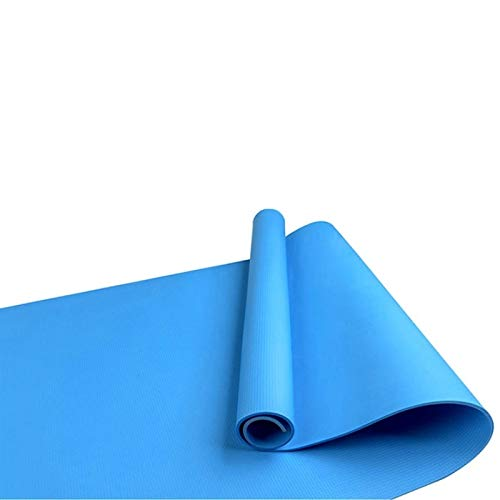 Sport-Yoga-Matten Multifunktionale Yoga-Matten-Riemen-Bügel elastische Baumwolle Anti-Rutsch-Fitness Gym-Gurt for Sport Übung 4 Farben (Color : Blue)