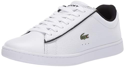 Lacoste Women's Carnaby EVO 120 2 SFA Sneaker, White/Black, 6 Medium US