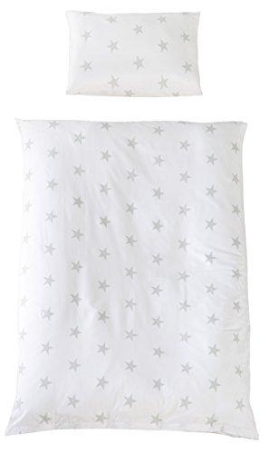 roba Bettwäsche 2-tlg, Kollektion 'Little Stars', Kinderbettwäsche 100x135 cm, 100% Baumwolle, Decken-& Kissenbezug für Babys & Kinder