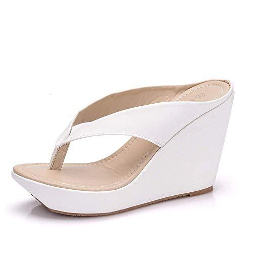 Slim Glamour Flip Flops, pendiente con chanclas, pastel de esponja con plataforma zapatillas_42, Piscina Zapatos de Agua Fangkai77