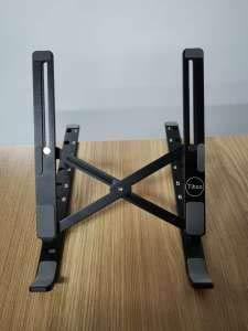 ANDOLO laptop riser,Foldable Portable Ventilated&adjustable Desktop Laptop Holder for iM(ac)/Laptop/Notebook Computer/Tablet (Black) 9-15.6' portable tablet stands.