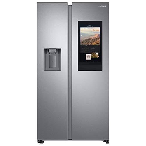 Samsung RS6HA8891SL, EG SidebySideKühlschrank mit Family Hub/ 389 Liter Kühlschrankvolumen, 225 Liter Fassungsvermögen des Gefrierteils, 346 kWh/Jahr, Edelstahl Look
