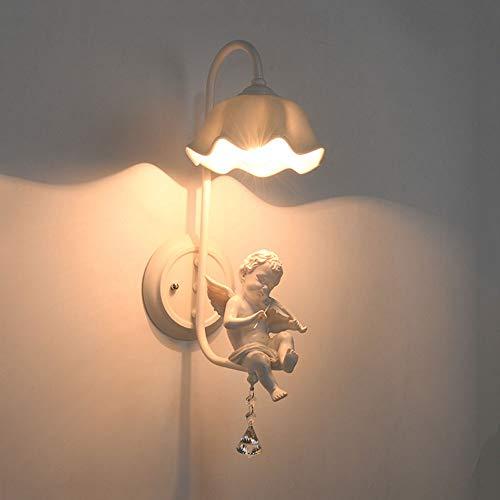 MUMUMI Vintage Angel Applique Lampe de Chevet créative Applique Murale Belle Éclairage Mural Chaud Éclairage Haut de Gamme adapté à la Chambre/Salle de Bain/Salon/Chambre d'enfant (Taille : B)
