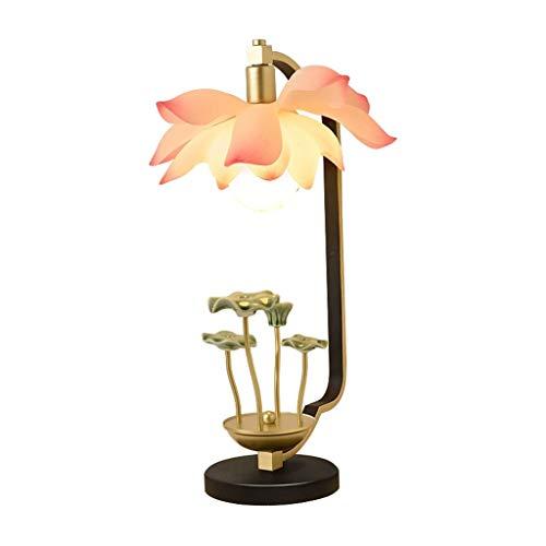 xilinshop Lámpara de Mesa Lámpara de Mesa de Viento Chino Chinos Personalizados Decoración de la Sala de Estar Dormitorio de Noche Caliente de la lámpara de la lámpara del Arte de Lotus Zen Lámpara