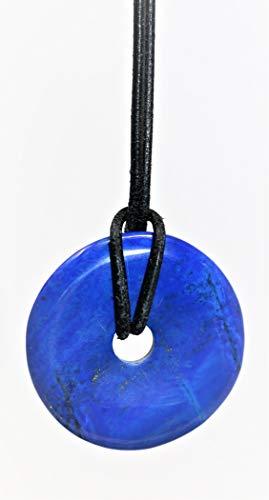 Marcopolo Gems Lapis Lazuli Donut Anhänger - 40mm AAA Qualität
