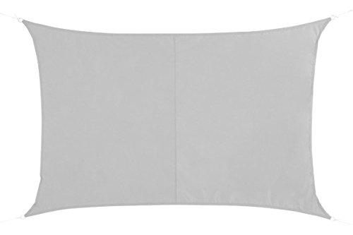 HESPERIDE Toldo Vela Parasol Rectangular 2 x 3 m, en Tela Impermeable - Color Blanco