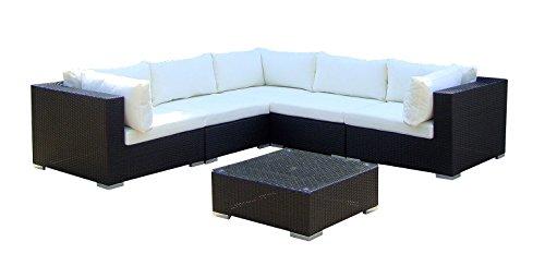 baidani Salon de Jardin Boite 10 C00017.00001 Designer Canapé de Salon de XXL Sunshine, canapé, Table d'appoint, Noir