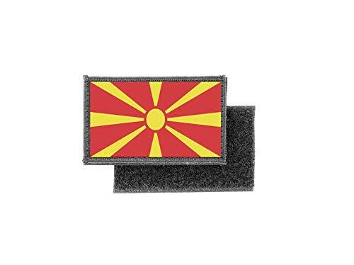 Aufnäher patch aufbügler gedruckt flagge fahne nordmazedonien mazedonien