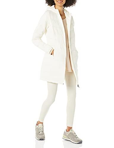 Amazon Essentials Lightweight Water-Resistant Packable Puffer Coat Abrigo de Piel, Blanco, M