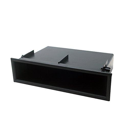 Feeldo 1DIN Autoradio stéréo radio Refitting Tableau de bord d'installation de fixation de garniture Façade d'entretoise de boîte de rangement