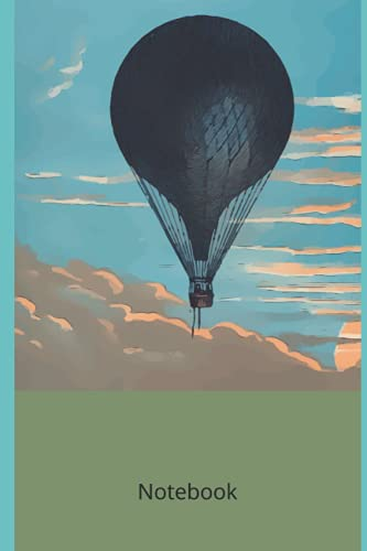 Hot Air Balloon: Novelty Line Notebook / Journal College Rule Line, A Perfect Gift Item (6 x 9 inches) Fort Sports Lovers.