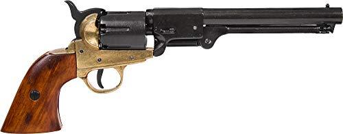 Denix Erwachsene Revolver Marine USA 1851 Gefälschte Waffenreplik, schwarz, One Size