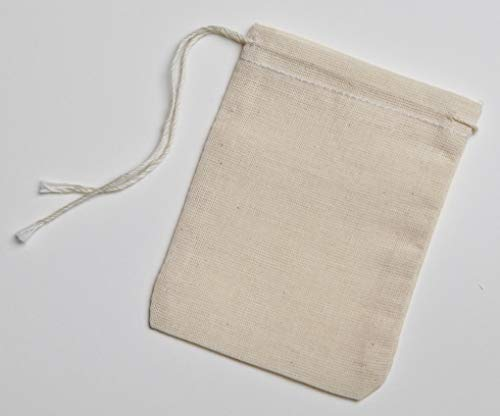 Cotton Muslin Bags 50 Count with Drawstring, Made...