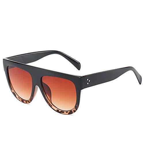 HHAA Gafas De Sol Clásicas Vintage para Mujer, con Tapa Plana, Sombra De Ojos De Gato, Nuevo Diseño, Gafas De Sol De Lujo Rosa Y Negro, Gafas para Mujer