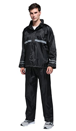 Maiyu Motorcycle Rain Suit Waterproof Rain Jacket and Rain Pants Rain Gear For Adult RS01