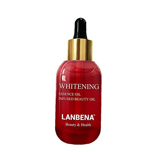 Bolso de 1bottle Ultra Iluminador impecable aceite Whitening Esencia de la piel natural del aceite Blanqueadora tratamiento con suero contra la oscuridad (15 ml / 0,5 oz) arte del maquillaje