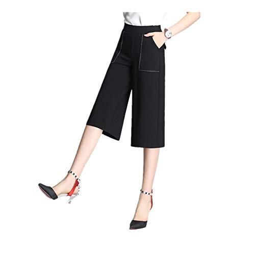 NOBRAND zomer Retro Lady hoge taille brede been broek vrouwen 8-punts broek rechte buis 7-punts extra groot