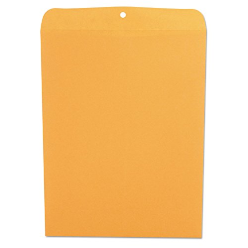 Kraft Clasp Envelope, Side Seam, 28lb, 12 x 15 1/2, Light Brown, 100/Box