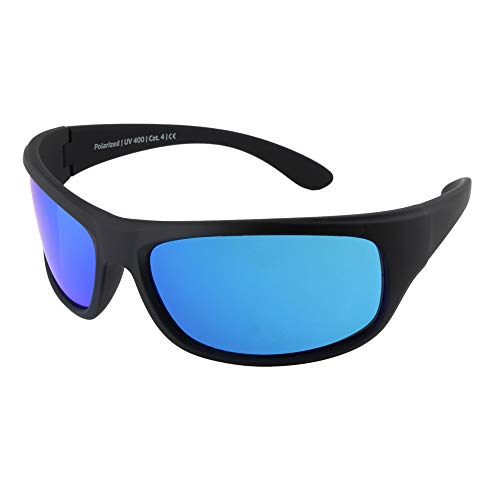 For photophobia UV 400 protection EREBOS sunglasses polarised mountains and sea 24 grams Cat 4 extra dark For extreme sun Mens//Womens sport sunglasses
