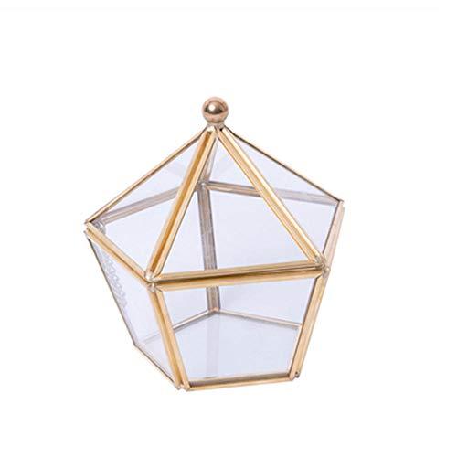 Joyero Pendientes Organizador, Caja de Vidrio Vintage con Tapa Almacenamiento de Vidrio Transparente Organizador de Joyas y Cosméticos para Anillos Pendientes Collares Pulseras
