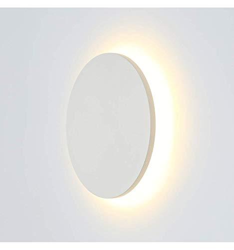 KosiLight - Moderne LED Leuchte für Wände 9W - Lunar - Weiß - 990 lm - Aluminium - IP65 - A