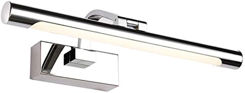 KTOL LED 9W Edelstahl Eitelkeitslichter Licht im bad, Wasserdicht Anti-nebel IP44 Spiegelfront beleuchtung Einstellbar Spiegel schrank licht 4 gren-Warmwei 72cm16W
