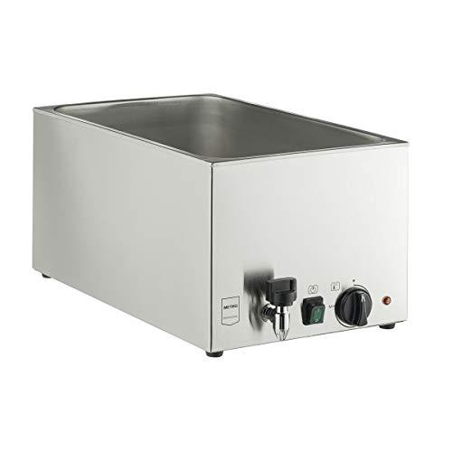 METRO Professional Bain Marie GBM 1200 | Warmhalter | Speisenwärmer | 1200 W | Edelstahl | auch gewerblicher Einsatz | Trockenlaufschutz | Heizfunktionsanzeige | Wasserstandsmarkierung | Buffetwärmer
