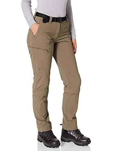 Maier Sports Arolla - Pantalon Zip Femme - Short Marron Modèle 46 2016