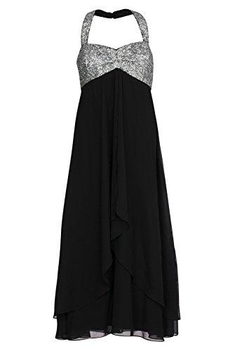 ashley brooke Kleid Damen Abendkleid Ball-Kleid Schwarz 195415, Größenauswahl:36