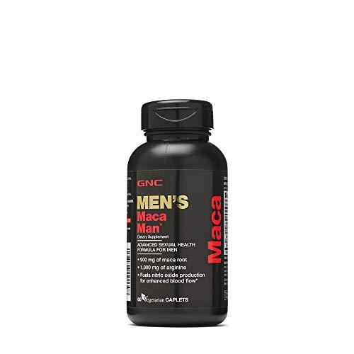 GNC Maca Man, Maca Root Arginine for Enhanced Blood Flow - 60 Vegetarian Capsules