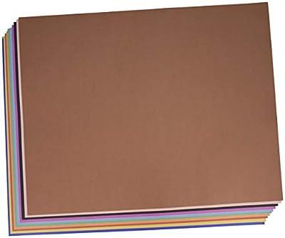 School Smart Railroad Board, 4-Ply, 22 x 28 Inches, Assorted Colors, 100 Boards - 1485740