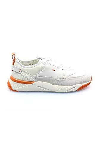 SANTONI Baskets blanches pour homme CASUAL - Blanc - 7½