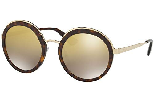 Prada PR50TS Sonnenbrille Braun Mit Verlaufs Braun Gold Verspiegelten Gläsern 54mm 2AU6O0 SPR50T PR 50TS SPR 50T