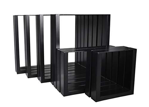 Magnetic Mobel 2X Tischgestell Tischkufen Rohstahl Design Industrielook Tischbeine Tischuntergestell Metall Stahl schwarz (800x720)