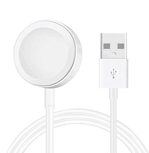 AICase iWatch Ladekabel,Ladekabel auf USB, 2 Meter Charging Cable Ladestation für iWatch Modelle Series SE/6/5/4/3/2/1 (38mm,40mm,42mm,44mm) Weiß (2M)