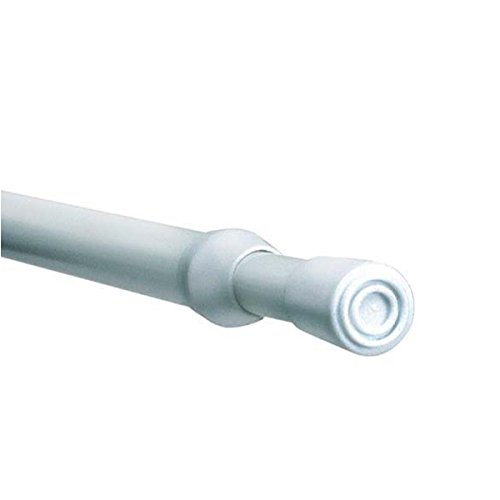 Linens Limited Steel Telescopic Extendable Tension Rod, White, 100-150 Cm