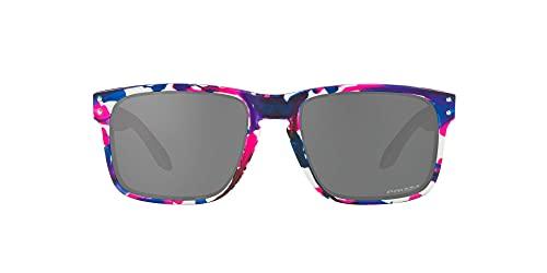 Oakley Gafas de sol cuadradas OO9102 Holbrook Collection para hombre, Kokoro/Prizm Negro, 57 mm