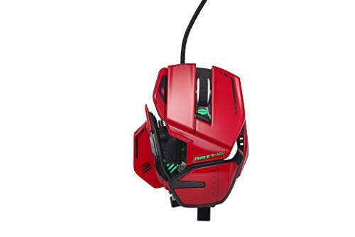 Mad Catz R.A.T. 8+ ADV Gaming Mouse (USB/Red/20000dpi/11 Buttons) - MR06DCINRD000-0