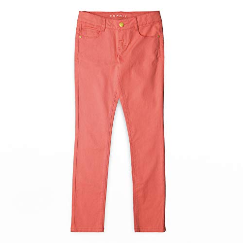 ESPRIT KIDS ESPRIT KIDS Mädchen Denim Pants Col Jeans, Rosa (Coral 323), (Herstellergröße: 170)