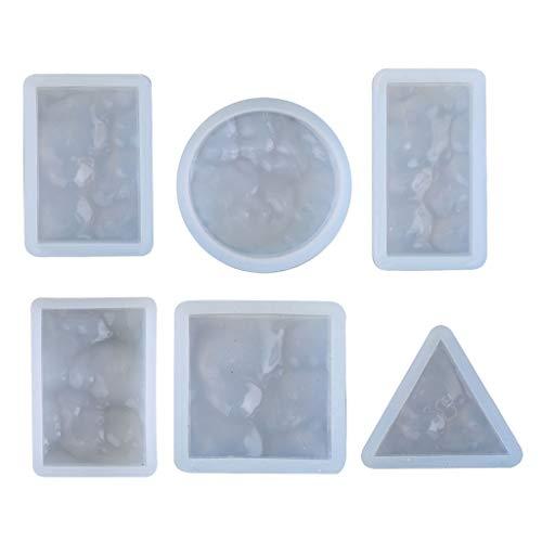 RG-FA - Juego de 6 moldes de resina de onda marina de resina epoxi de resina moldeada de resina