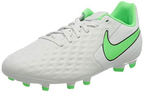 Nike Jr. Tiempo Legend 8 Academy MG Football Shoe, Platinum Tint/Rage Green-Black, 38.5 EU