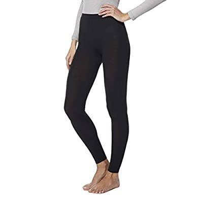 32 DEGREES Womens Heat Plus Baselayer Comfy Lounge Pajama Legging, Black, XLarge
