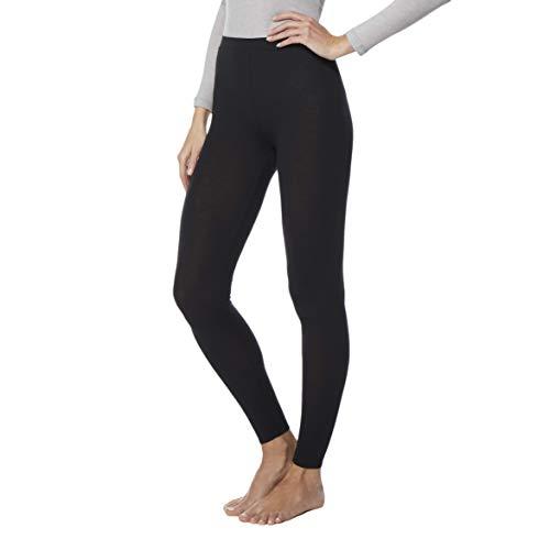32 DEGREES Womens Heat Plus Baselayer Comfy Lounge Pajama Legging, Black, XLarge