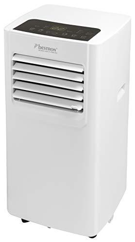 Bestron Condizionatore portatile 3in1: climatizzatore, ventilatore e deumidificatore, Con telecomando, Durata di utilizzo max. 24h, Plastica/Bianco
