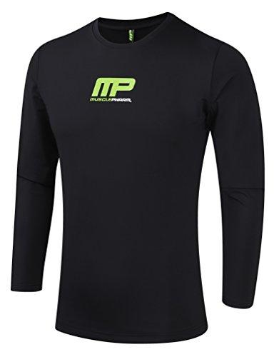 Muscle Pharm Herren Textilbekleidung Long Sleeve Rashguard, Black, L, MPTS419