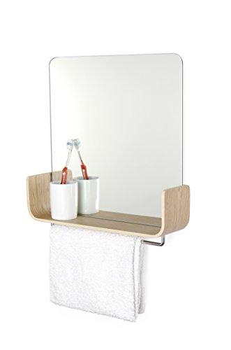 Expert universelle-8004-Miroir rangée Acier/Bois/mirrow 40 x 10 x 40 cm