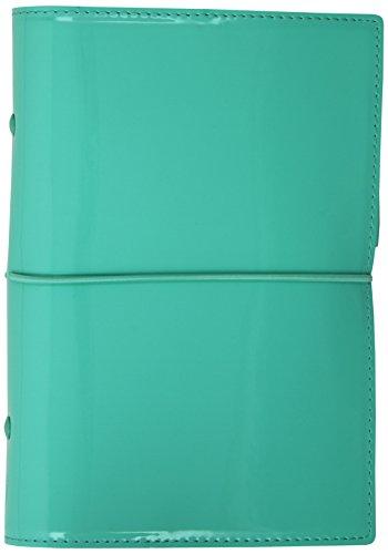 Filofax Domino Patent Personal Organiser (Turquoise)