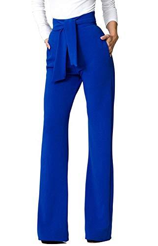 Damesbroek Fashion High Waist brede pijpen lange broek met modieuze bandage vrije tijd eenkleurig broekje pants Beachwear