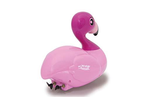 JAMARA 410109 - RC Water Animals 2,4GHz Flamingo - mit Sicherheitsfunktion Schiffsschrauben drehen Sich nur im Wasser, 2 Antriebsmotoren, einfach zu steuern, rosa